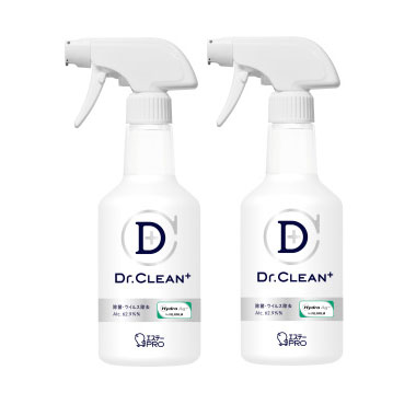 [告知ステッカー付]Dr.CLEAN⁺除菌・ウイルス除去スプレー本体 500mL(2本セット)