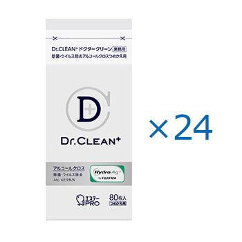 [ケース]Dr.CLEAN⁺ 除菌・ウイルス除去アルコールクロス つめかえ80枚入(24)
